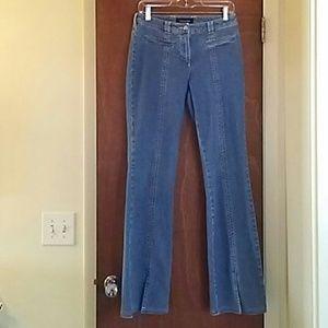 NWOT Escada Pink Stitching Blue Stretch Jeans SEXY